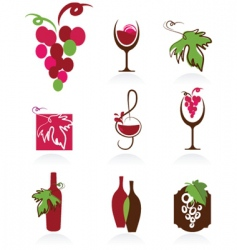 wine design elements vector image vector image