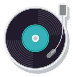 Retro music vinyl isolated icon vector