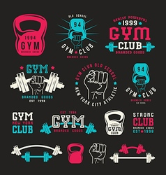 Stock of gym club emblem vector