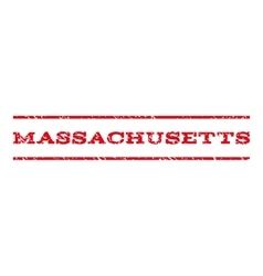 Massachusetts watermark stamp vector