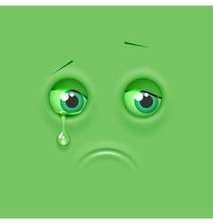 Sad emoticon emoji vector