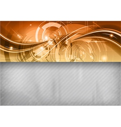 Tech background line top gold vector