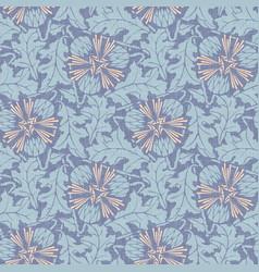 Taraxacum seamless pattern background vector