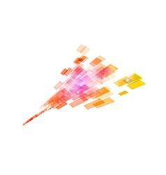 square in arrow orange vector image