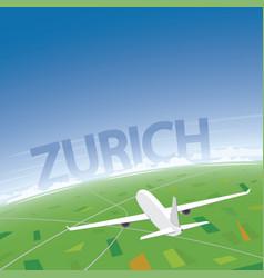 Zurich flight destination vector