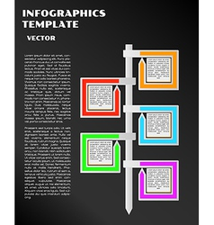 Black infographics with arrows vector