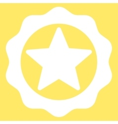 Award seal icon from competition  success bicolor vector