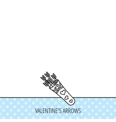 Cupid arrows icon love weapon sign vector