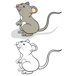 Fun mouse vector