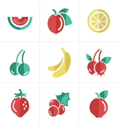Fruit icons set design vector