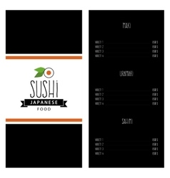 Sweet suchi menu vector