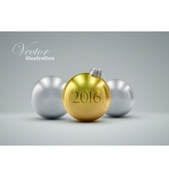 Christmas balls happy new 2016 year vector