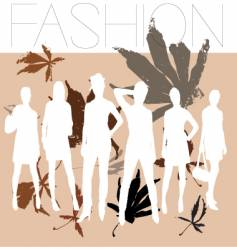 autumn fashion vector image