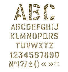 Stencil letters set vector