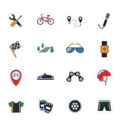bicycle icon set vector image vector image
