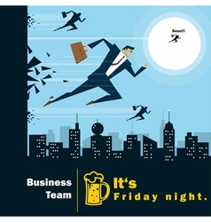Business Idea series Business Team 4 concept vector image vector image