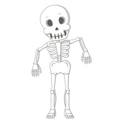 Cartoon funny human skeleton dance vector