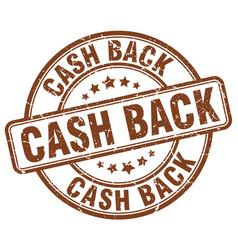 Cash back stamp vector