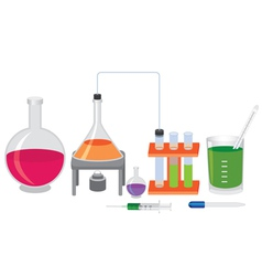 chemical experiment vector image vector image