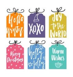 Christmas Card Templates vector image vector image