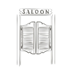 doodle saloon vector image