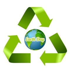 Earth Day design with recycle arrows vector image