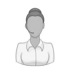 Female consultant icon black monochrome style vector