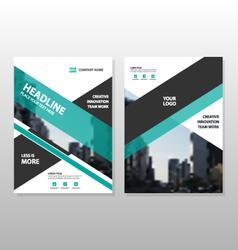 Green black annual report Brochure template set vector image