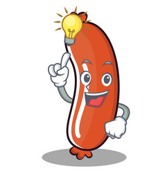 Have an idea sausage character cartoon style vector