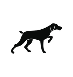 Hunting dog black simple icon vector