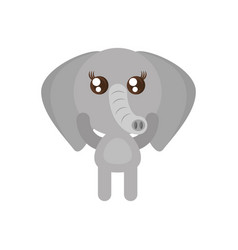 kawaii elephant animal toy vector image