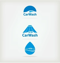 Logo car wash vector image