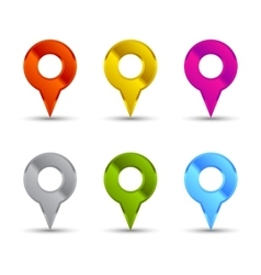 Map pointers set vector image vector image