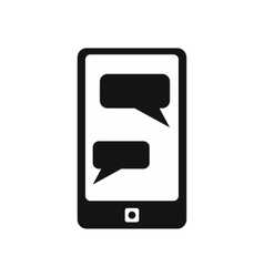 Messages on phone simple icon vector image