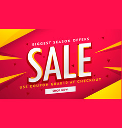 modern sale and promotion banner design template vector image
