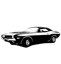 Muscle car profile vector