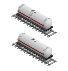 Railway tank isometric view vector
