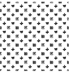Seamless maya pattern black and white ethnic vector