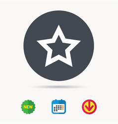 star icon favorite or best sign vector image
