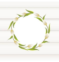 Tulips wreath border vector image