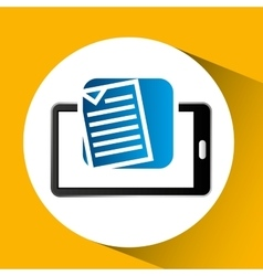 Mobile phone icon document social media vector
