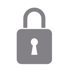 Padlock security data protection privacy vector