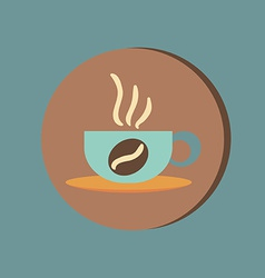 Cup of hot drink symbol of hot drink icon cafe or vector