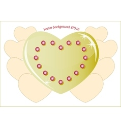 Romantic golden heart which symbolizes the love on vector