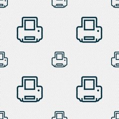 Printing icon sign seamless pattern with geometric vector