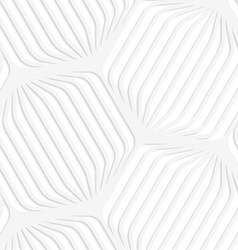 Paper white rounded striped hexagons vector