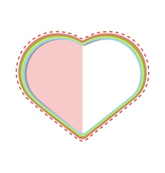 Decorative paper heart vector