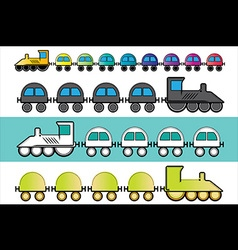 Cartoon locomotive train toy vector