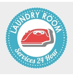 Laundry room isolated icon design vector