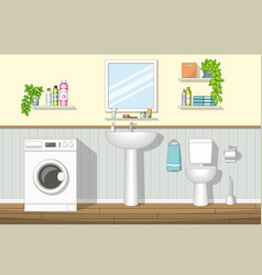 a bathroom vector image